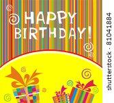 happy birthday card.... | Shutterstock .eps vector #81041884