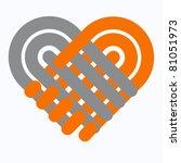 handshake symbol forming a love ... | Shutterstock .eps vector #81051973