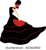 Flamenco Dancer. Spanish Girl...
