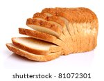 The Cut Loaf Of Bread With...