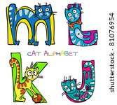 Stock vector cat alphabet j k l m 81076954