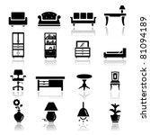 icons set furniture | Shutterstock .eps vector #81094189