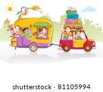 vector illustration  cute kids... | Shutterstock .eps vector #81105994