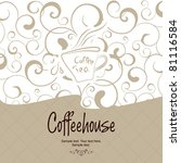 the concept of coffeehouse menu. | Shutterstock .eps vector #81116584