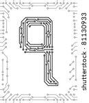 alphabet of printed circuit... | Shutterstock .eps vector #81130933