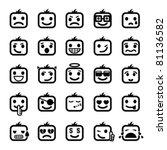 set of 25 smiley faces. men... | Shutterstock .eps vector #81136582