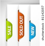 set of eshop tags for new  sale ... | Shutterstock .eps vector #81142057