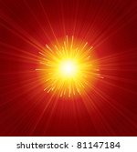 brightly red sunburst background