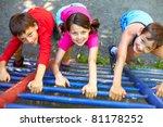 three little children climbing... | Shutterstock . vector #81178252