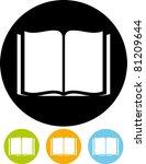 vector icon   book | Shutterstock .eps vector #81209644