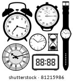 clock and watch collection... | Shutterstock .eps vector #81215986
