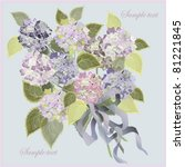 greeting card with a bouquet of ... | Shutterstock .eps vector #81221845