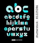 vector alphabet | Shutterstock .eps vector #81225286