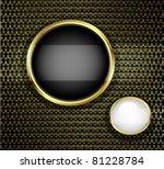 golden buttons on carbon fiber... | Shutterstock . vector #81228784