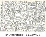 mega doodle sketch drawing... | Shutterstock .eps vector #81229477
