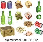 the icons set  package and... | Shutterstock .eps vector #81241342
