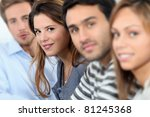 portrait of smiling students | Shutterstock . vector #81245368