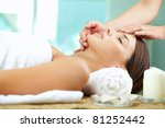 young woman enjoying facial at...   Shutterstock . vector #81252442