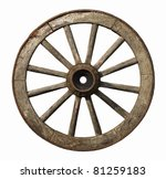 Old Wheel Isolated On White...