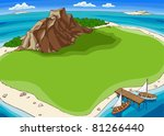 small island in the middle of... | Shutterstock .eps vector #81266440