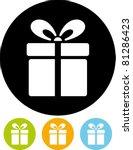 gift box   vector icon | Shutterstock .eps vector #81286423