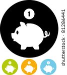 piggy bank money   vector icon   Shutterstock .eps vector #81286441