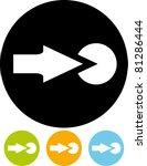 login   vector icon | Shutterstock .eps vector #81286444