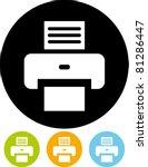 printer   vector icon   Shutterstock .eps vector #81286447