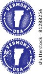 Vermont USA Stamps - stock vector