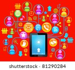 social network  communication... | Shutterstock .eps vector #81290284
