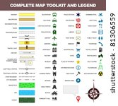 map icon legend symbol sign...