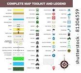 map icon legend symbol sign...