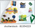back to school vector background | Shutterstock .eps vector #81354223