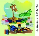 back to school vector background   Shutterstock .eps vector #81354226