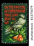 usa   circa 1969   a stamp... | Shutterstock . vector #81375079