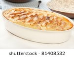 Crisp mashed potatoes top ground meat and vegetables - stock photo