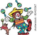 juggling clown   Shutterstock .eps vector #81415267