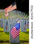 Us Military Cemetery Flying The ...