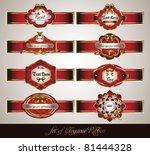 set of red elegance label | Shutterstock .eps vector #81444328