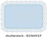 lace place mat  white eyelet... | Shutterstock .eps vector #81464419