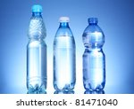 bottles of water on blue... | Shutterstock . vector #81471040