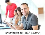 portrait of smiling student in... | Shutterstock . vector #81473290