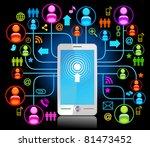 social network  communication... | Shutterstock .eps vector #81473452