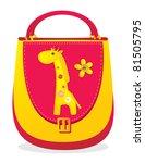 "Children's bag with sewn applique ""Giraffe"" - stock photo"