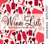 modern wine list with a retro... | Shutterstock .eps vector #81517957