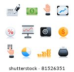 banking icons   Shutterstock .eps vector #81526351