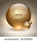 abstract background with gold... | Shutterstock .eps vector #81530083