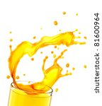 orange juice splash  isolated... | Shutterstock . vector #81600964
