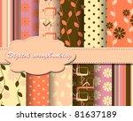 set of flower vector paper for... | Shutterstock .eps vector #81637189