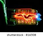 club raven neon sign | Shutterstock . vector #816508